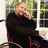 Glen in his wheelchair