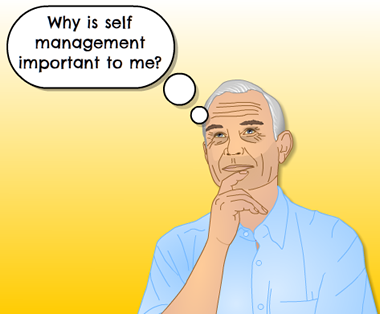 """Man thinking """"why is self-management important to me?"""""""